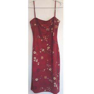 Pandora red sleeveless cherry Blossom dress